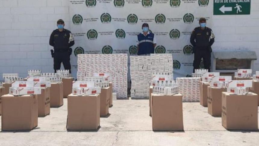 Dian y Policía Fiscal y Aduanera incautan cigarrillos de contrabando