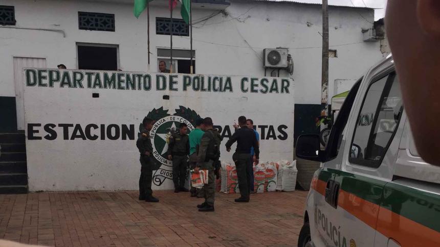 Un herido tras ataque con explosivo a estación de Policía en Cesar