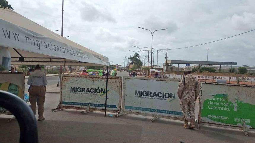 Reportan poco tránsito en punto fronterizo de Paraguachón, en La Guajira
