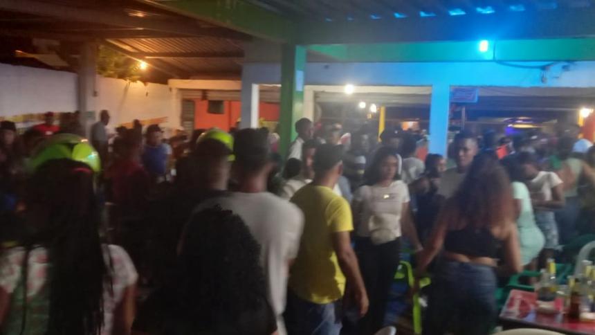 Suspenden fiesta clandestina con picó y 300 asistentes en Bayunca