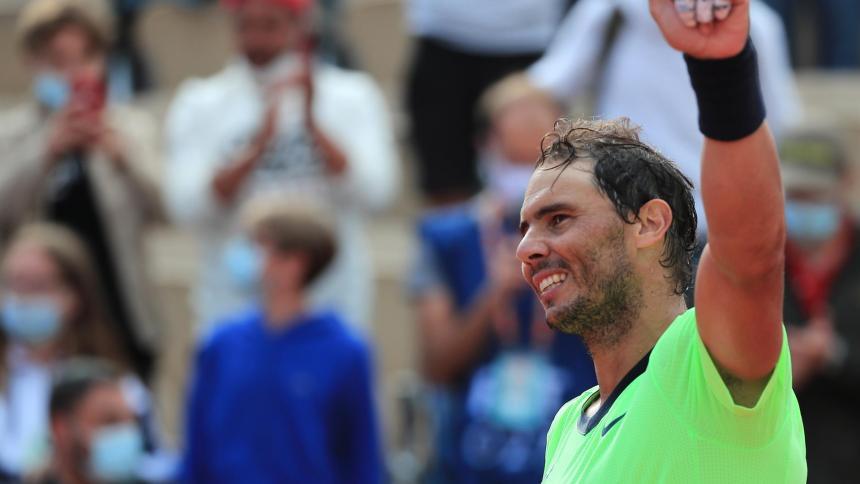 Nadal se apresura a sus 16 octavos de final en Roland Garros