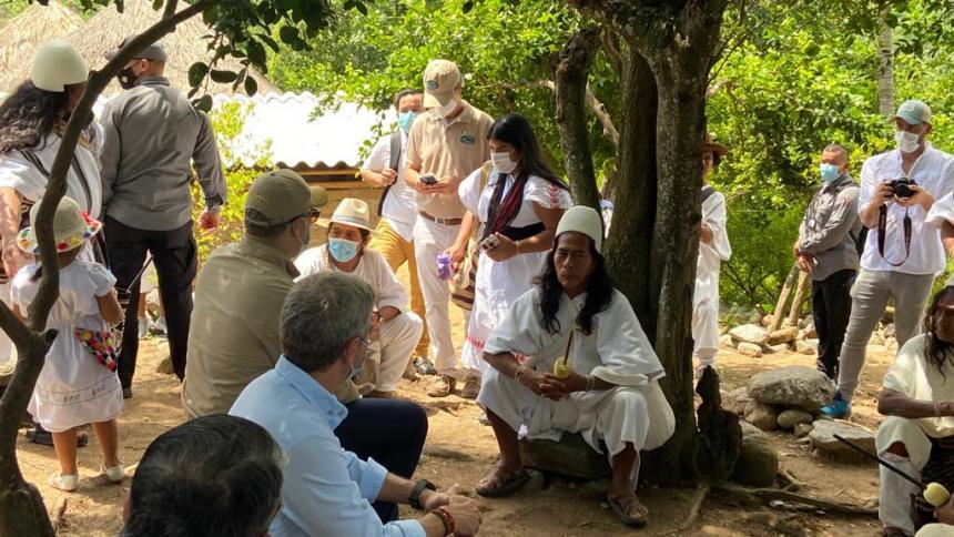 Presidente Iván Duque visita la Sierra Nevada y el  Parque Isla Salamanca