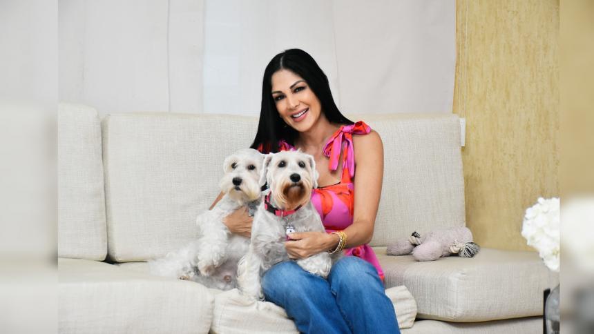 Nala y Juancho, los 'amores perrunos' de Liliana Álvarez