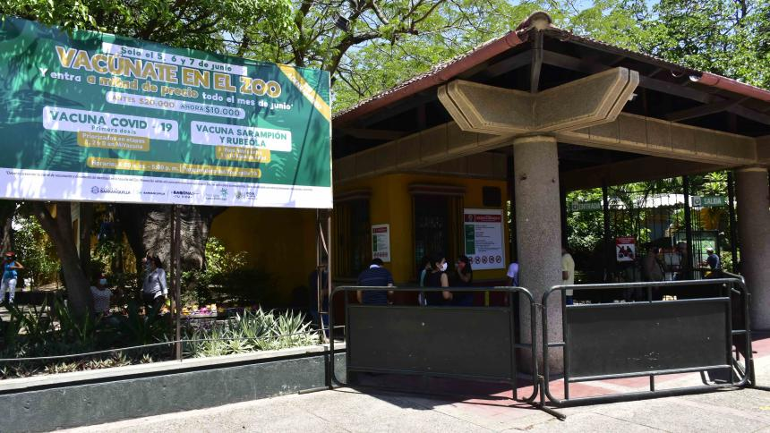 Segunda jornada de vacunación en el Zoológico de Barranquilla