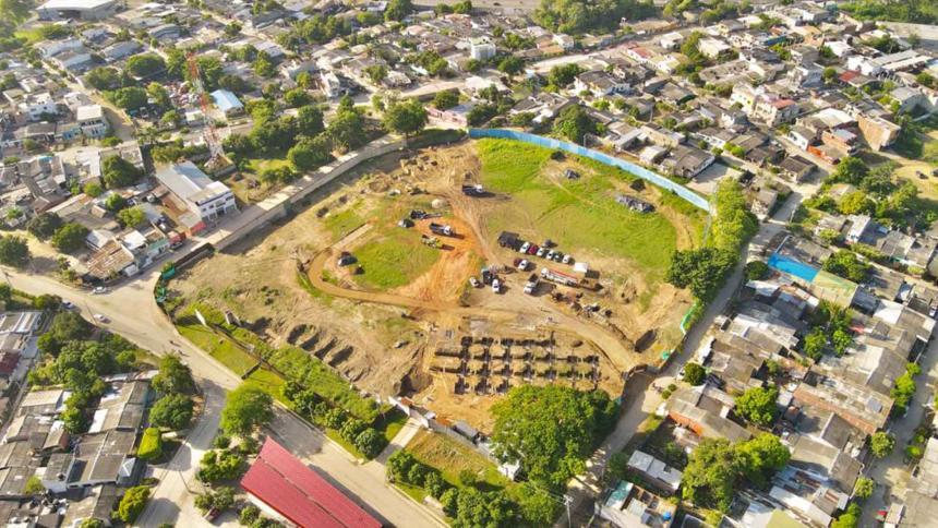 Reportan buen avance en la construcción del estadio de Béisbol de Sincelejo