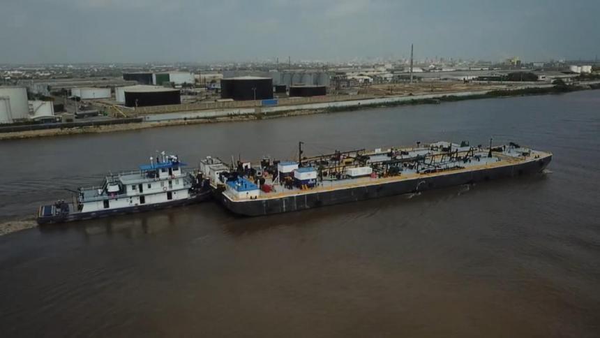 Marcan hito de movilización de carga en el río Magdalena
