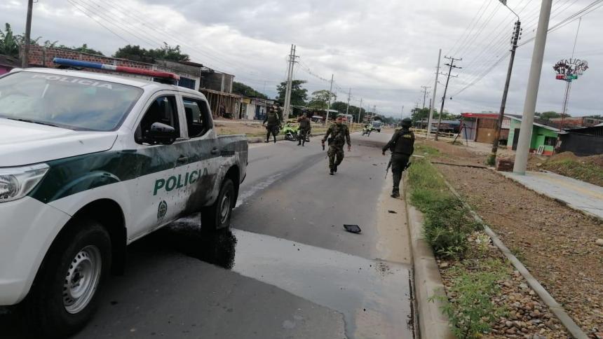 Reportan ataque con explosivo a patrulla policial en Arauquita