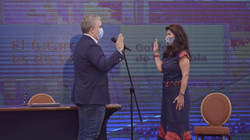 Presidente Duque posesiona a nueva gerente del Fondo de Adaptación