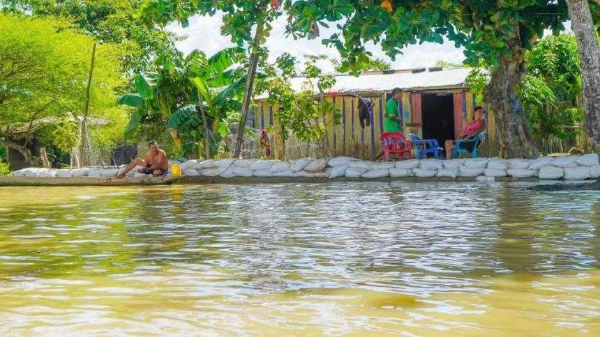 Bajos niveles del río cauca llevan tranquilidad a Guaranda, Sucre