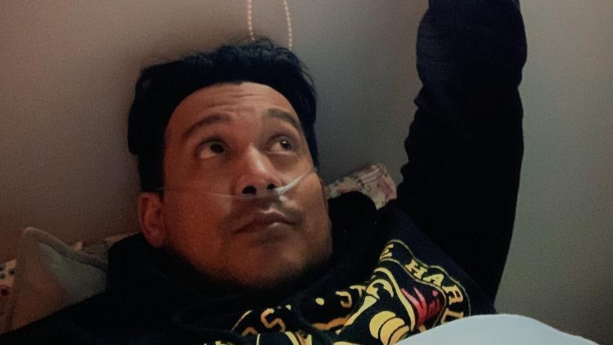 Donny Caballero fue hospitalizado por covid-19