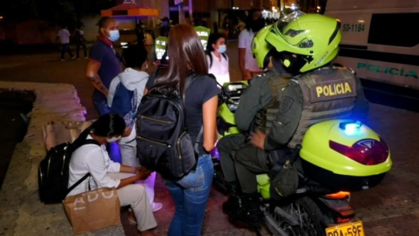 Cartagena sigue en toque de queda y ley seca