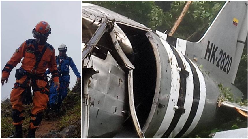 Encuentran en Meta avioneta accidentada y a sus tres ocupantes muertos