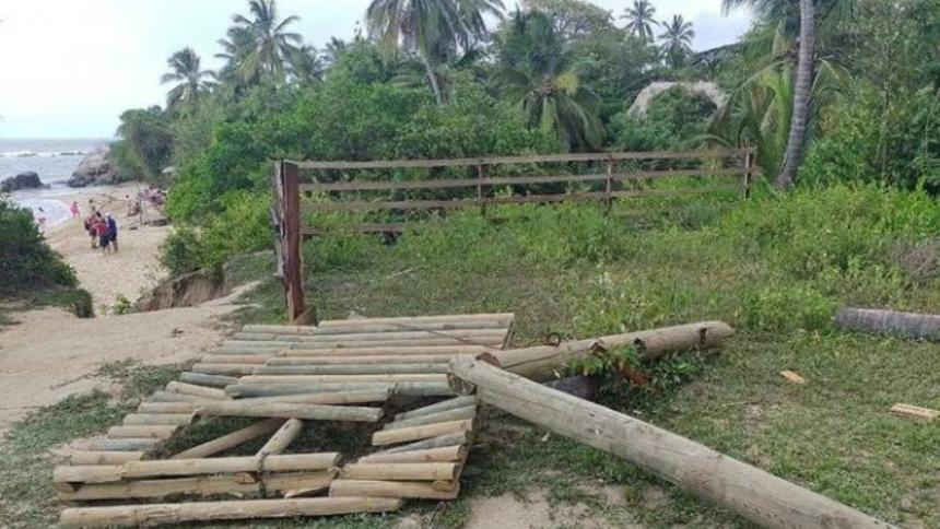 Operadores abrieron paso por sendero del Tayrona cerrado por particulares