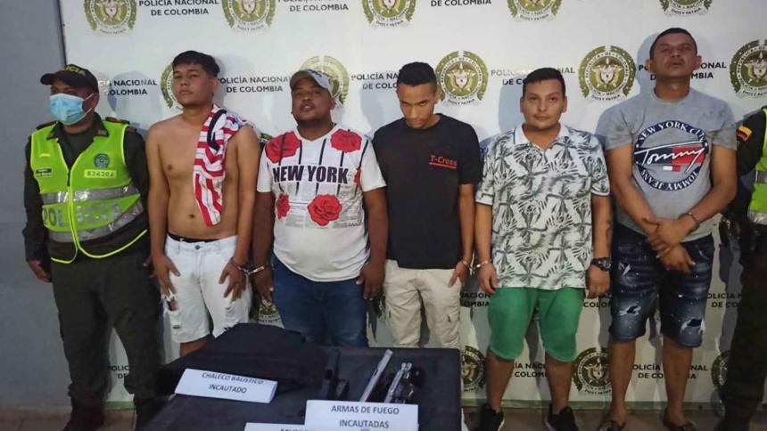 Capturan a cinco miembros de 'los Papalópez' mientras delinquían