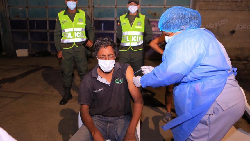 Arrancó vacunación de habitantes de calle de Valledupar