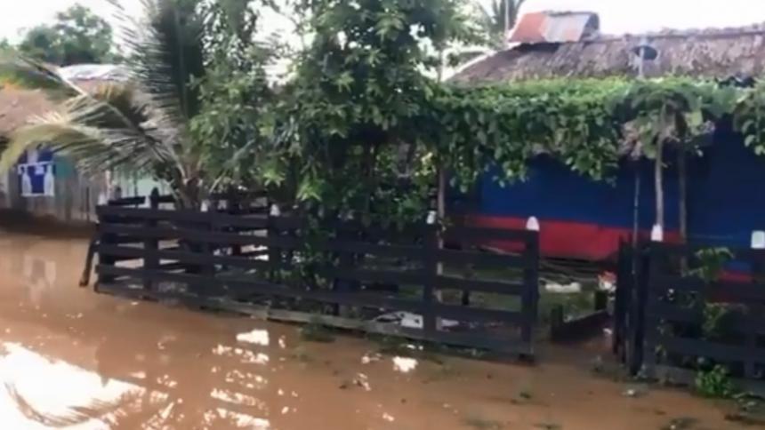 Onda tropical causó crecientes súbitas en zona rural de Montería