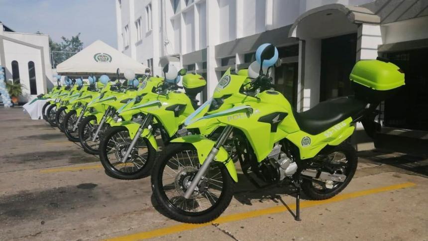Policía de Sucre cuanta con 14 nuevas motocicletas
