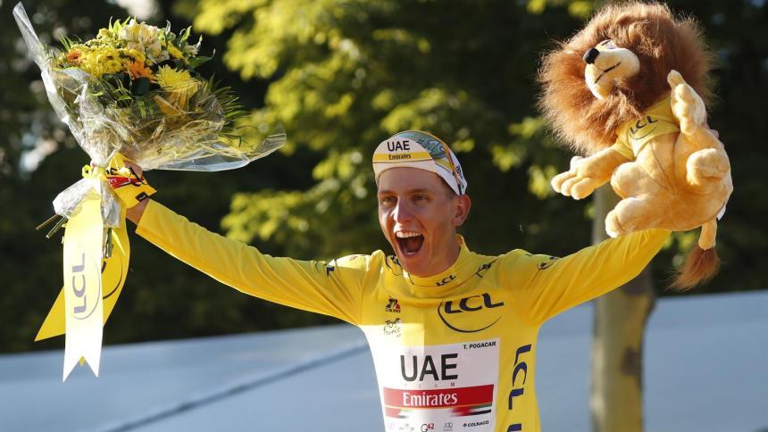 Tadej Pogacar se coronó como campeón del Tour de Francia