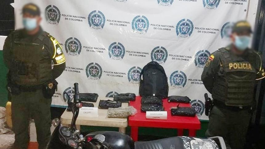 Policía de Tránsito incautó 9 mil gramo de marihuana en Córdoba