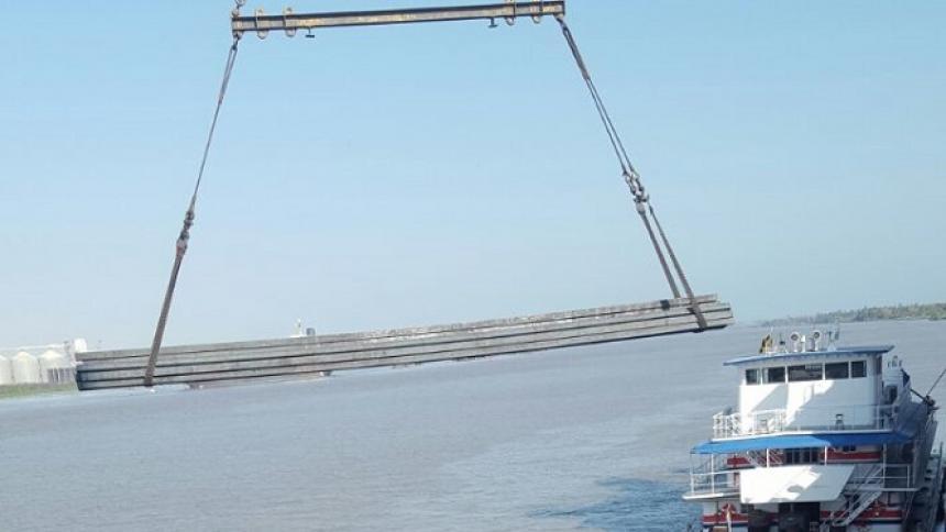 Movilizan 2 mil toneladas de acero por el río de Barranquilla a Barrancabermeja