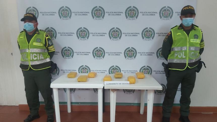 Policía decomisa cocaína enviada desde Montería a Sincelejo