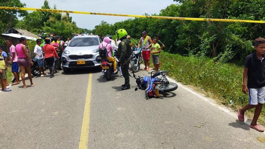 Asesinan a motociclista a disparos en Aguada de Pablo, Atlántico