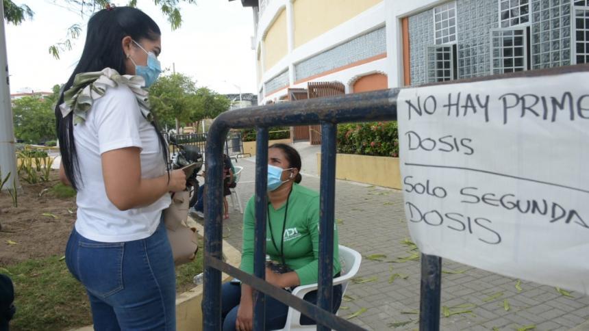 En Barranquilla hoy solo se están aplicando segundas dosis contra covid