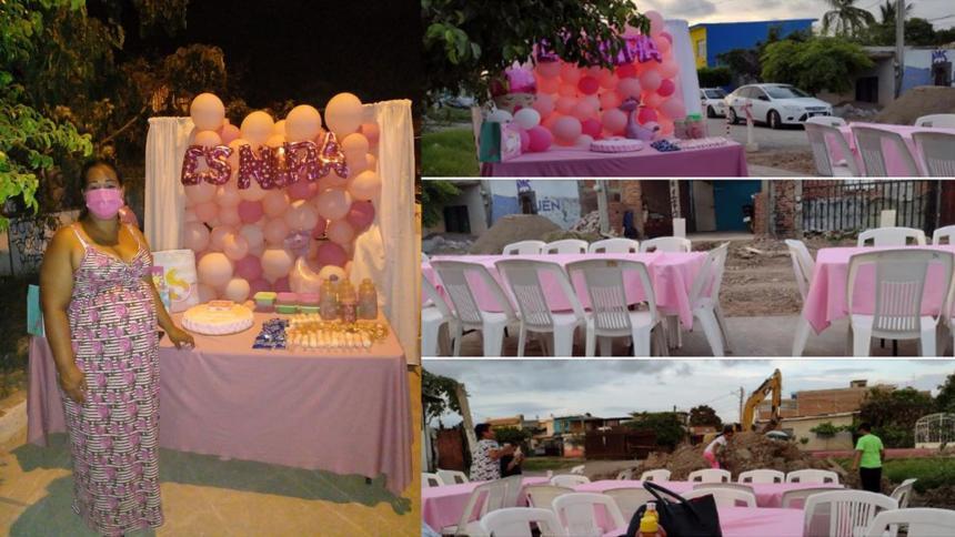Madre mexicana organizó baby shower y ningún invitado asistió