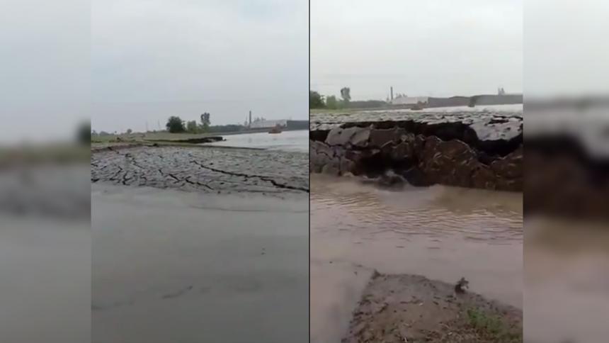 Extraño fenómeno natural en India hace levantar la tierra del agua
