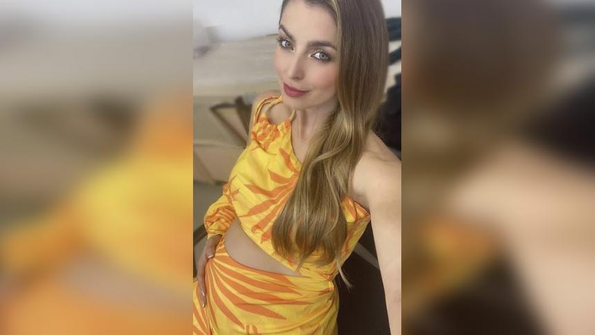 Cristina Hurtado dio positivo por covid-19 en su cuarto mes de embarazo
