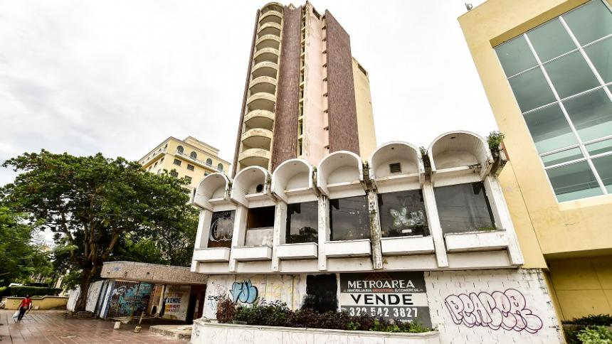 Estado del antiguo Hotel Royal en Barranquilla