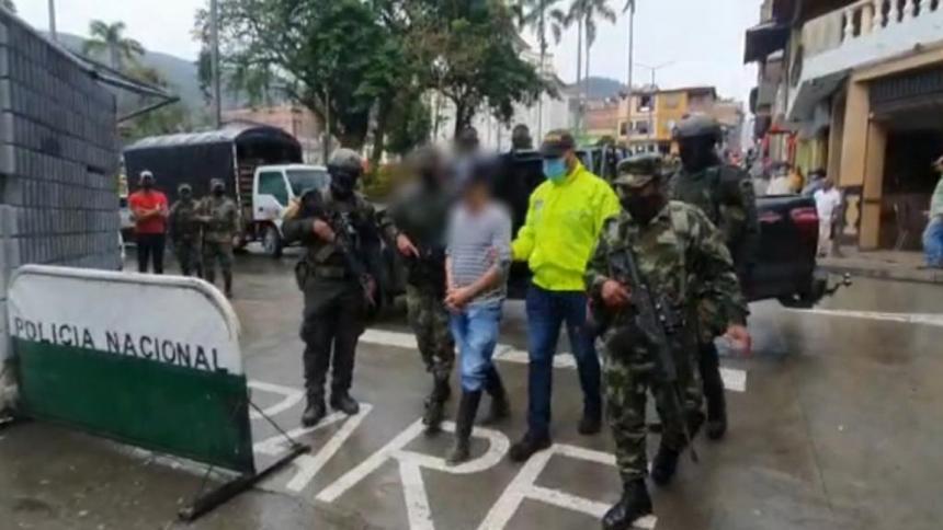 Capturan a alias 'Machín' presunto responsable del desplazamiento de Ituango