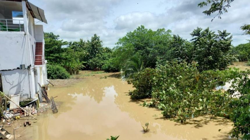 Lluvias provocan colapso de caños en la subregión del San Jorge
