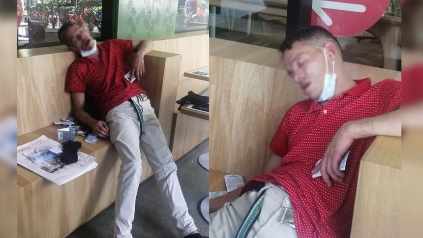 Supuesto ladrón se quedó dormido luego de atracar un local en Medellín