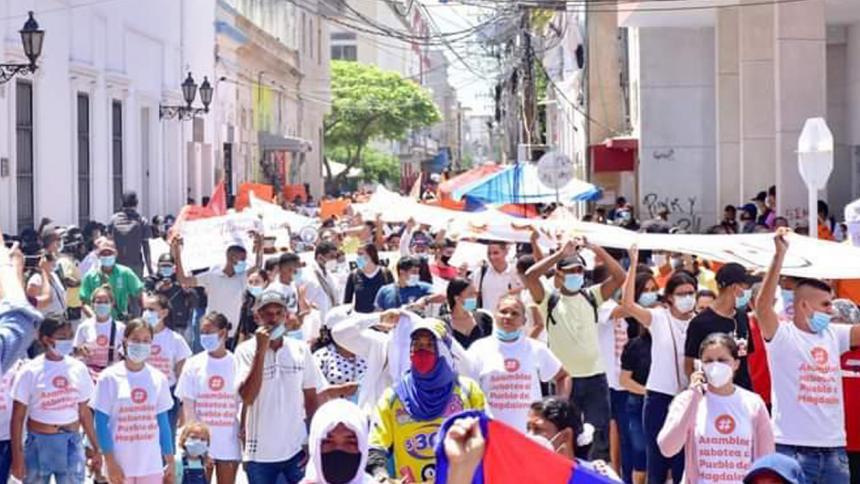 Con marcha piden a los diputados del Magdalena aprobar proyectos