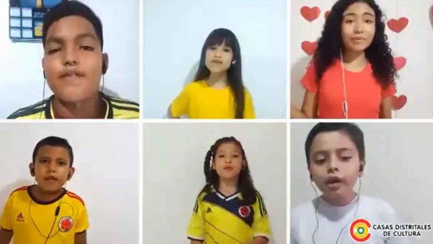 Así suena 'Colombia tierra querida' en la voz de los niños de las Casas Distritales de Cultura