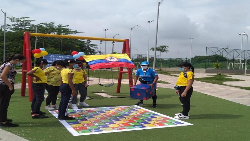 Ocho municipios participaron en jornadas de actividad física de Indeportes