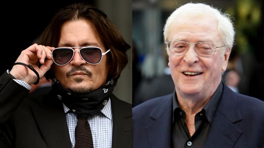 Johnny Depp y Michael Caine en los premios Karlovy Vary