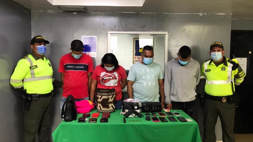 Capturan a cuatro personas en Chiquinquirá señaladas de cometer un hurto