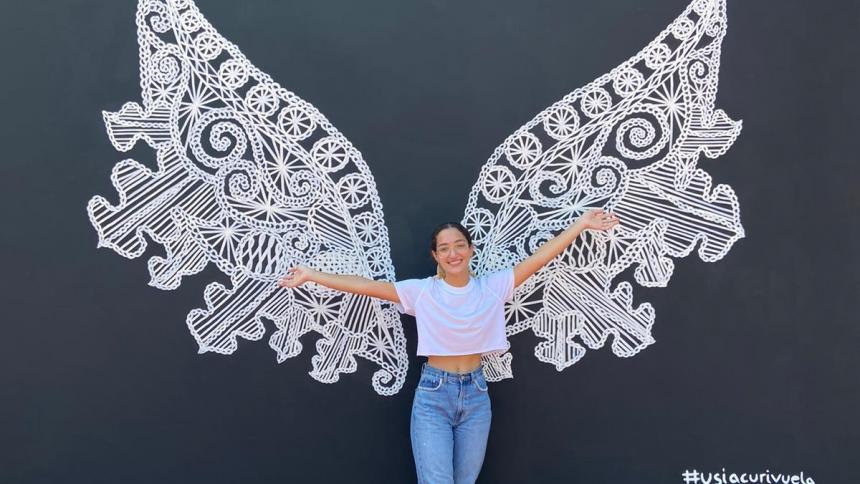 Un mural de alas el nuevo atractivo turístico en Usiacurí
