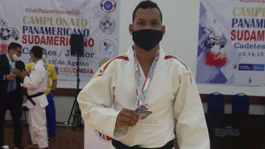 Juan Pablo Ruiz se adjudicó la medalla de bronce en Sudamericano de Judo en Cali