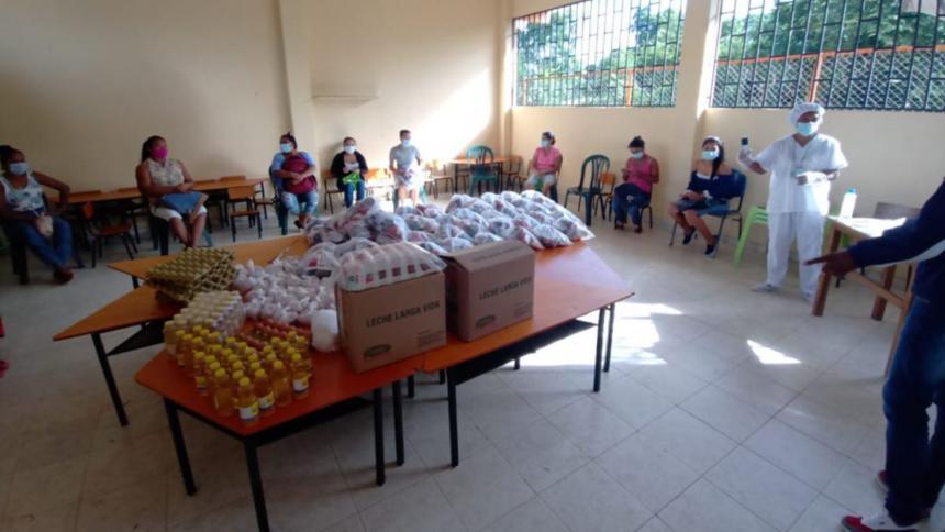 Estudiantes reciben doble ración de alimentación escolar en Montería