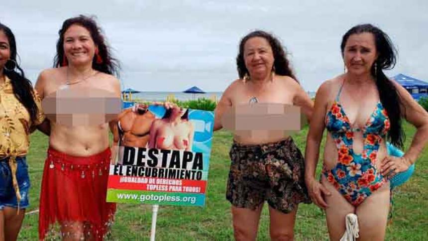 Sancionan a mujer por hacer 'toples' en playa de Cartagena