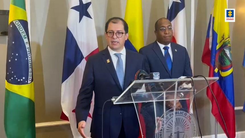 Fiscal general participó en encuentro de fiscales y procuradores de Centro y Suramérica