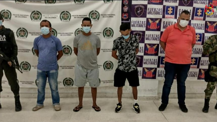 A la cárcel cuatro presuntos integrantes del 'Los Pachenca' en La Guajira