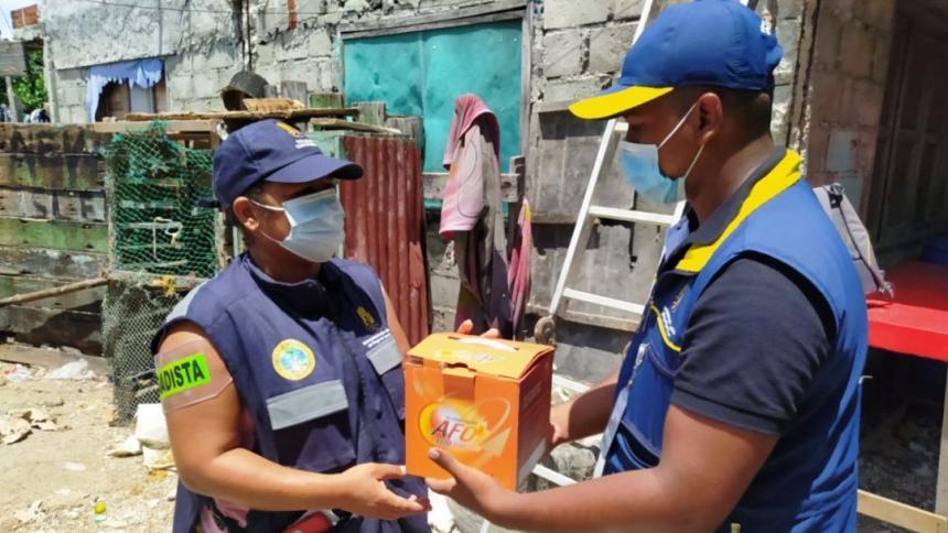 Gestión del Riesgo entregó balones extintores a COMBAS de Cartagena