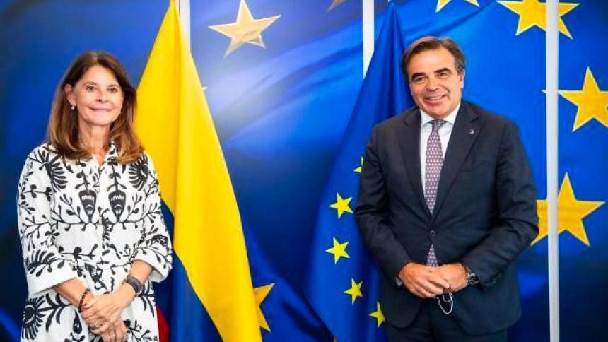 Vicepresidenta Ramírez aborda la inmigración y la pandemia con la UE