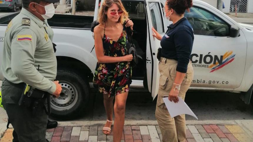 Hallan en Santa Marta a joven polaca reportada desaparecida por Interpol