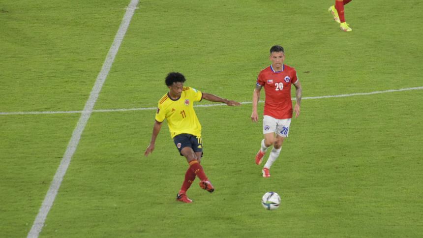 Juan Guillermo Cuadrado jugó frente a Chile con una gastroenteritis