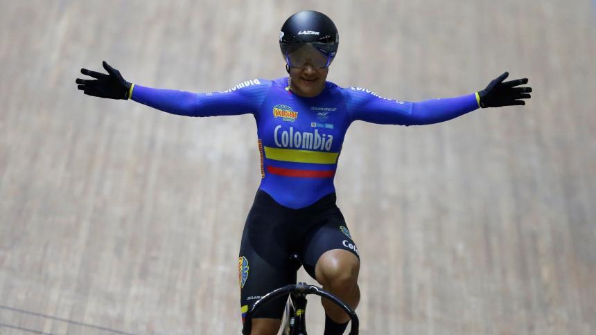 Martha Bayona ganó su tercer oro en la Copa de Naciones de pista
